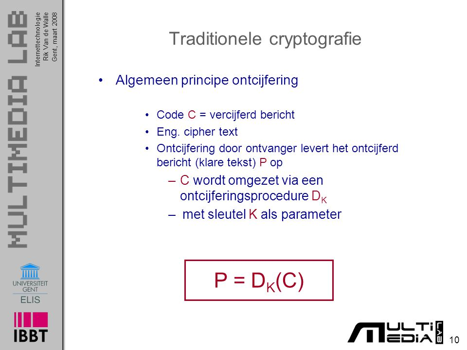 Traditionele cryptografie