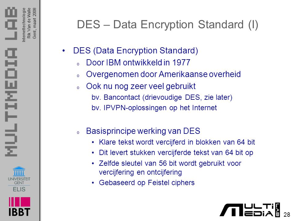 DES – Data Encryption Standard (I)
