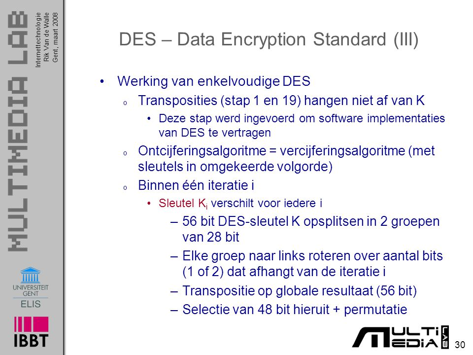 DES – Data Encryption Standard (III)