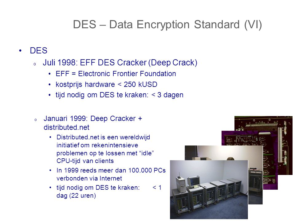 DES – Data Encryption Standard (VI)