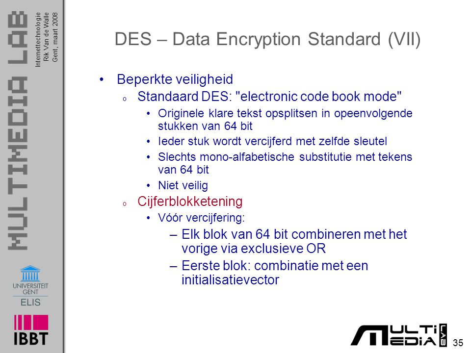 DES – Data Encryption Standard (VII)