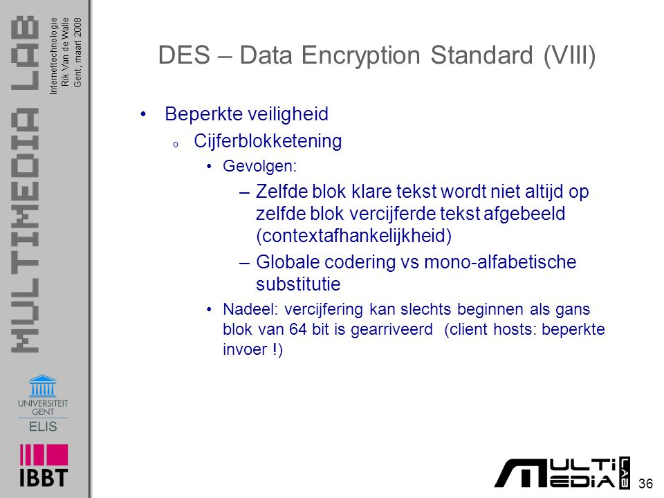 DES – Data Encryption Standard (VIII)