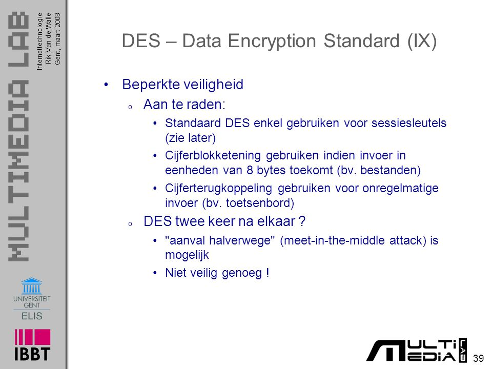 DES – Data Encryption Standard (IX)