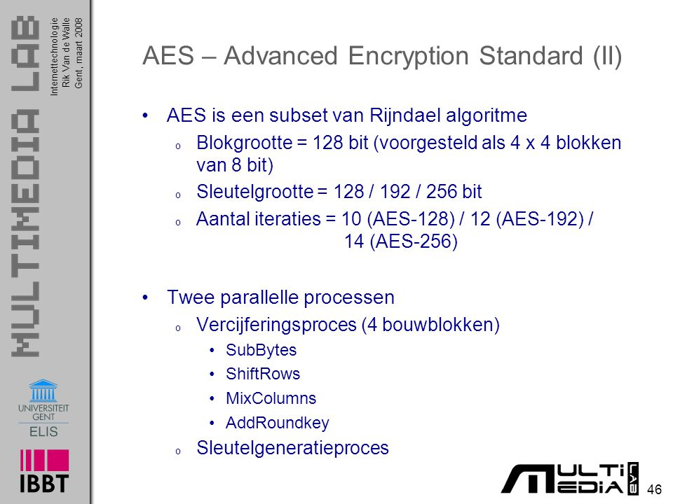 AES – Advanced Encryption Standard (II)