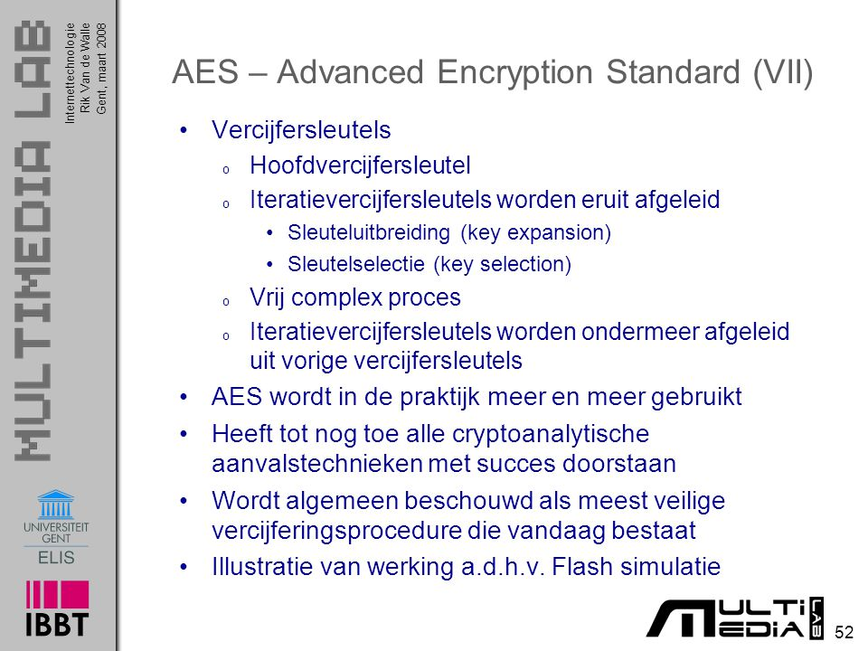 AES – Advanced Encryption Standard (VII)