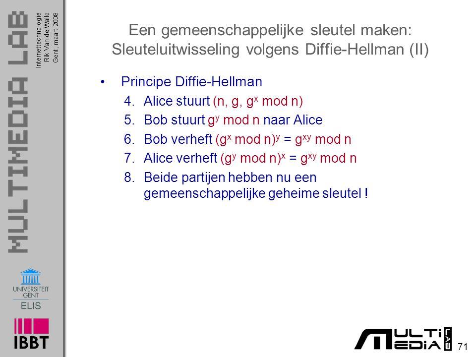 Een gemeenschappelijke sleutel maken: Sleuteluitwisseling volgens Diffie-Hellman (II)