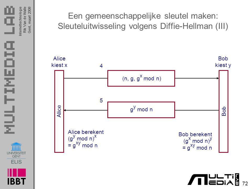 Een gemeenschappelijke sleutel maken: Sleuteluitwisseling volgens Diffie-Hellman (III)