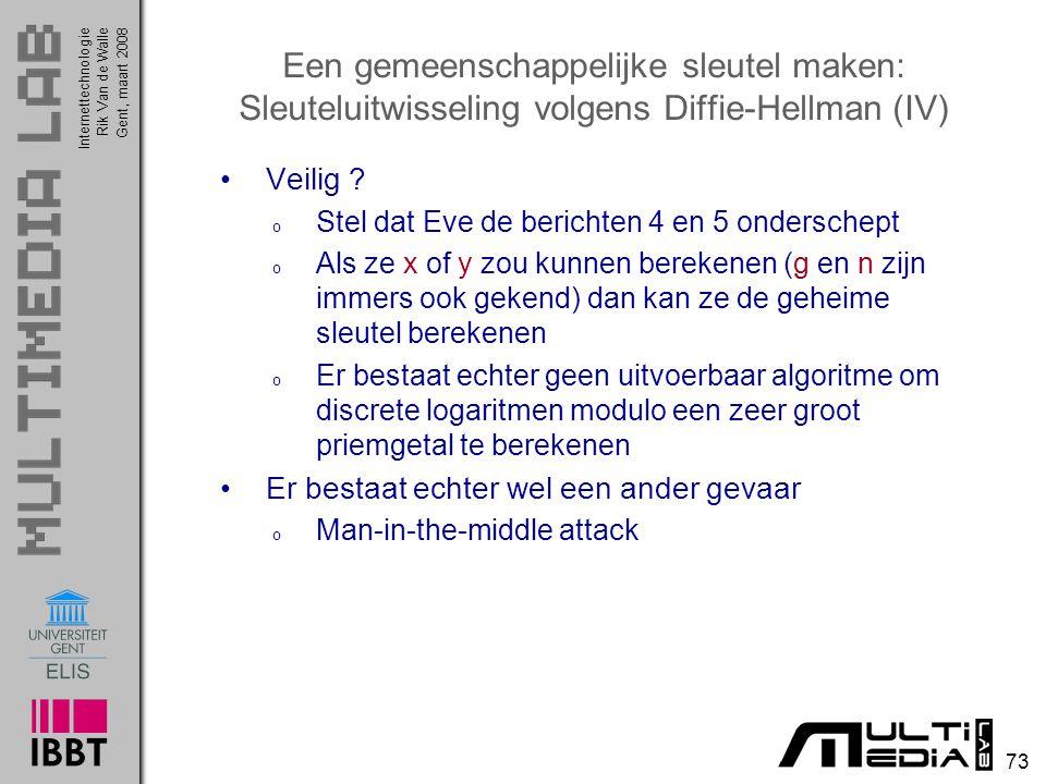 Een gemeenschappelijke sleutel maken: Sleuteluitwisseling volgens Diffie-Hellman (IV)