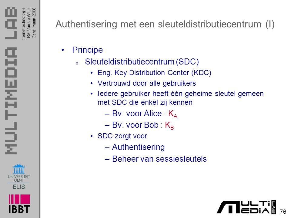 Authentisering met een sleuteldistributiecentrum (I)