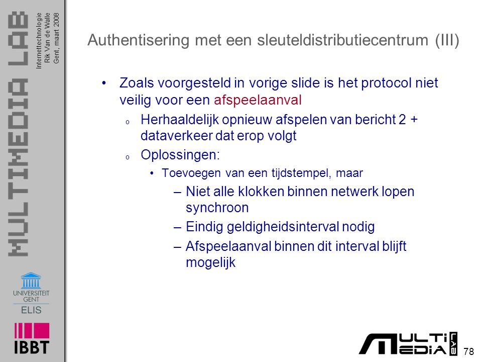 Authentisering met een sleuteldistributiecentrum (III)