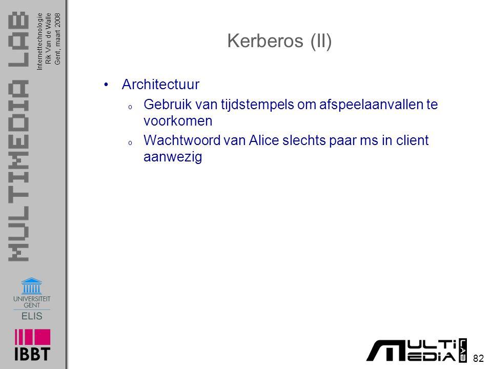 Kerberos (II) Architectuur