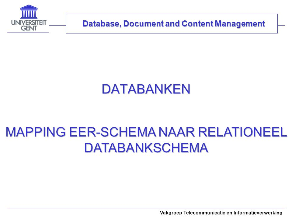 Database, Document and Content Management