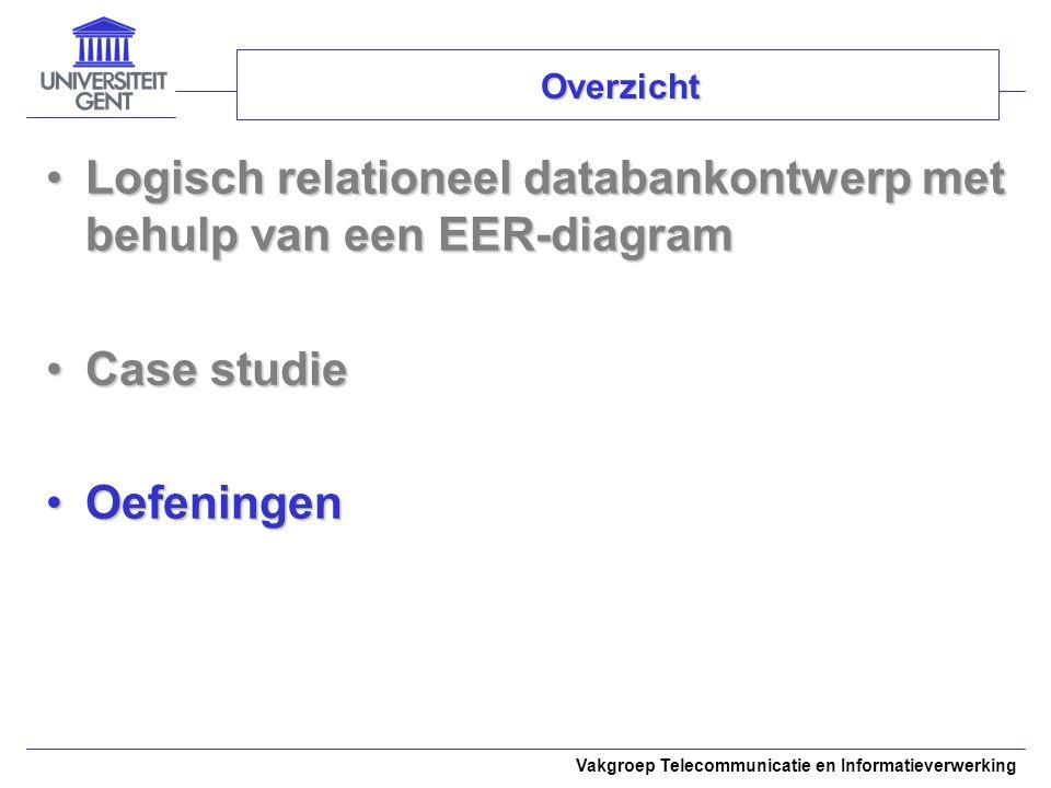 Logisch relationeel databankontwerp met behulp van een EER-diagram