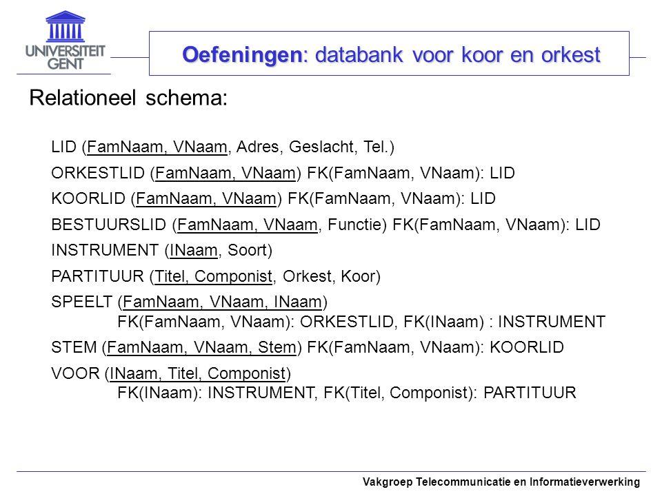 Oefeningen: databank voor koor en orkest