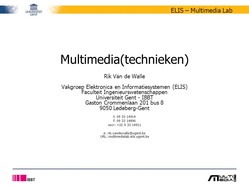 Multimedia(technieken)