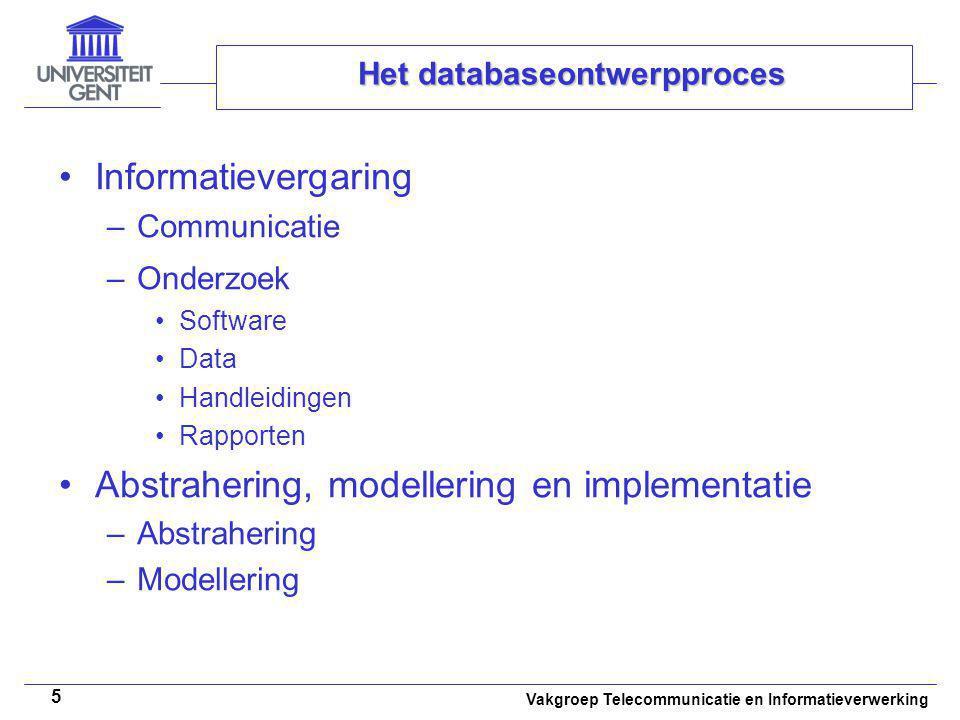 Het databaseontwerpproces