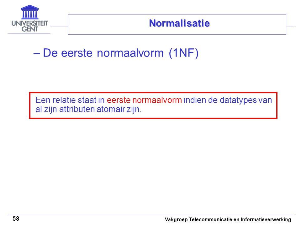 De eerste normaalvorm (1NF)