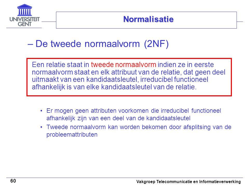 De tweede normaalvorm (2NF)