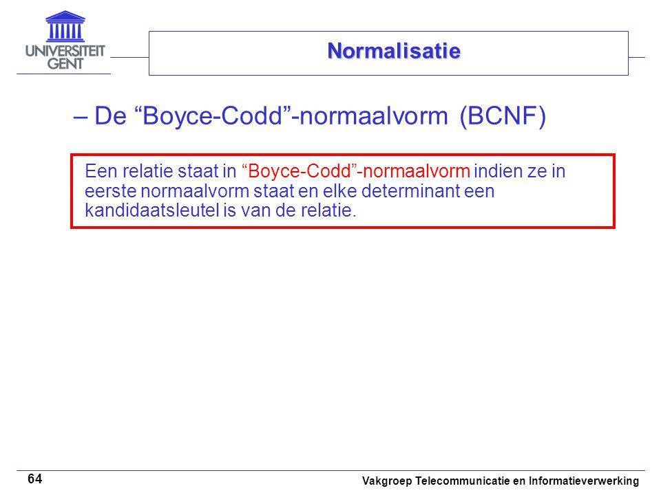 De Boyce-Codd -normaalvorm (BCNF)