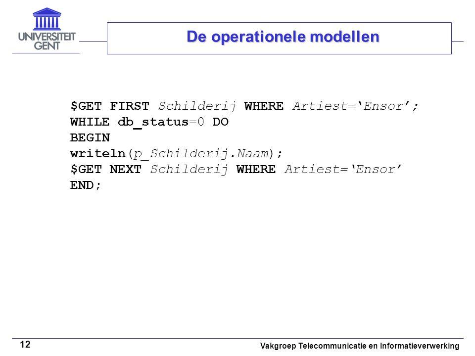De operationele modellen