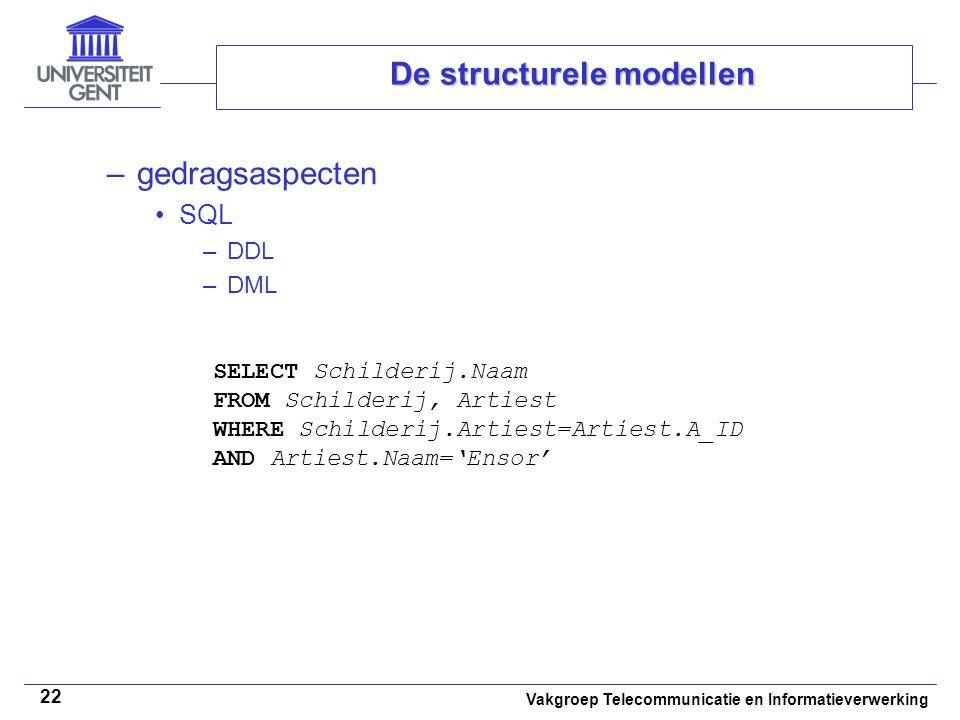 De structurele modellen
