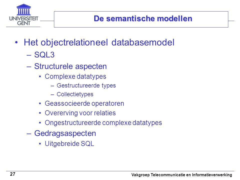 De semantische modellen