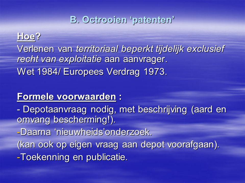 B. Octrooien 'patenten'
