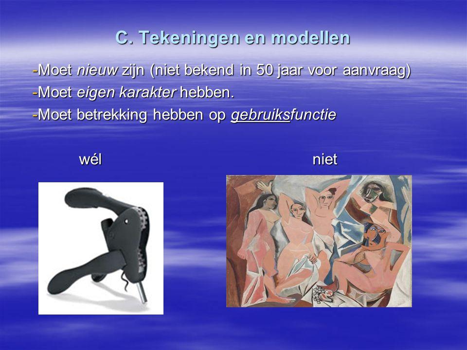 C. Tekeningen en modellen