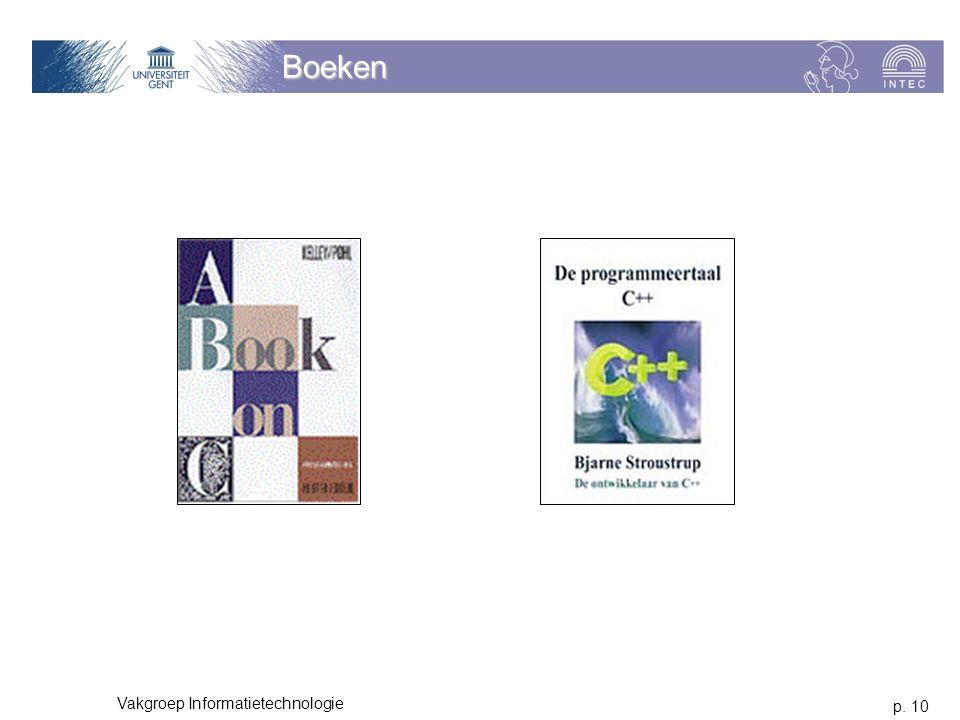 Boeken Vakgroep Informatietechnologie