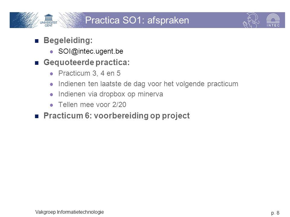 Practica SO1: afspraken