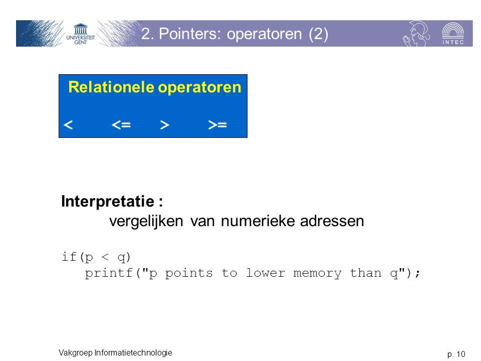 2. Pointers: operatoren (2)