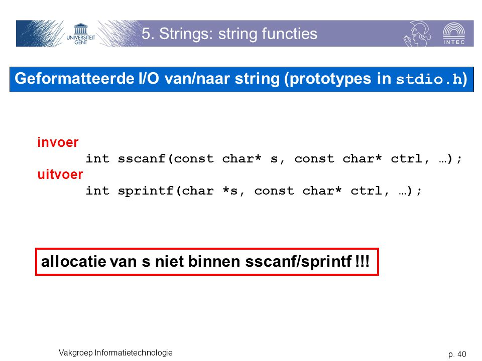 5. Strings: string functies