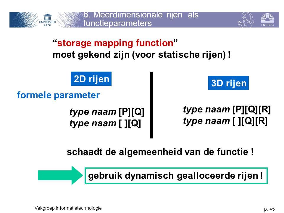 6. Meerdimensionale rijen als functieparameters
