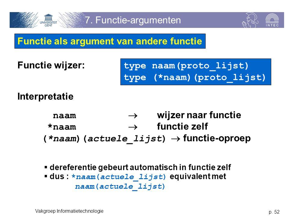 Functie als argument van andere functie