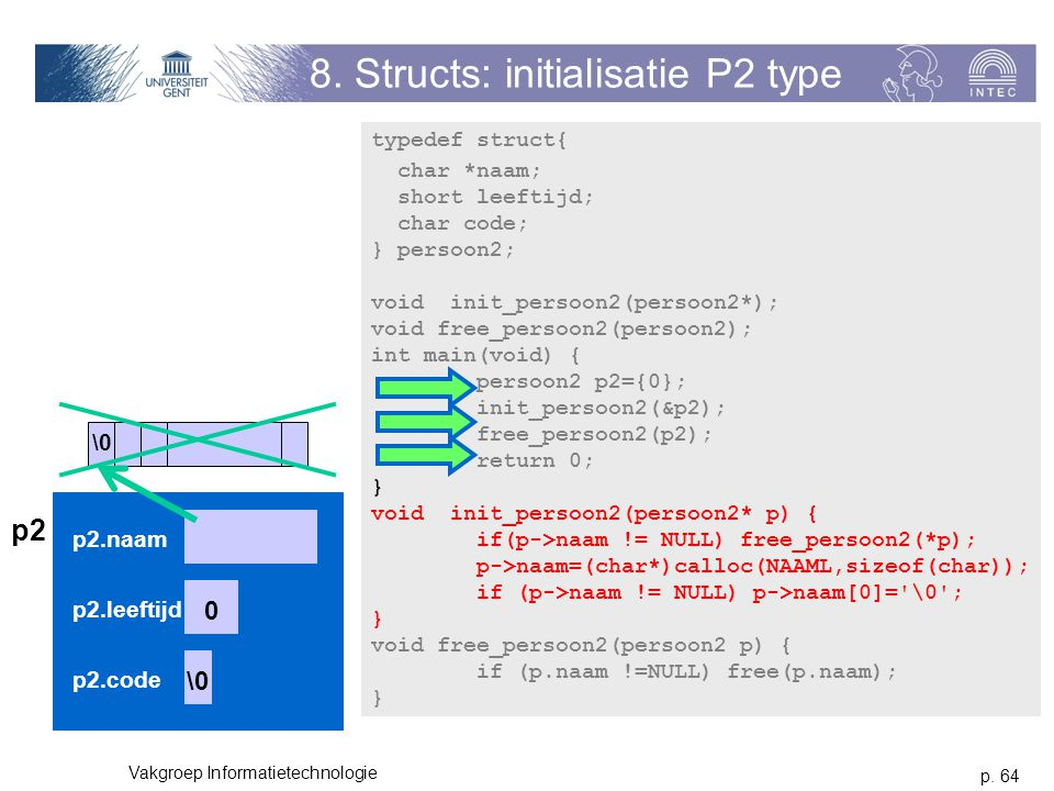 8. Structs: initialisatie P2 type