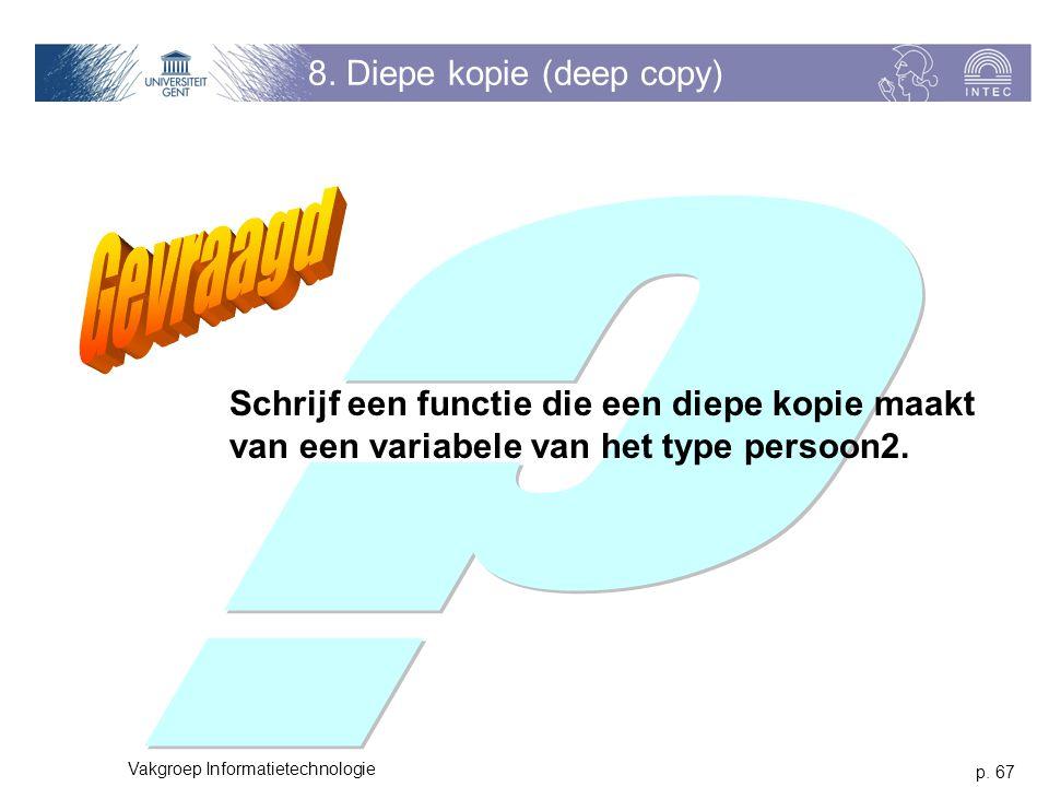 8. Diepe kopie (deep copy)