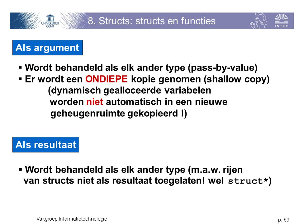 8. Structs: structs en functies