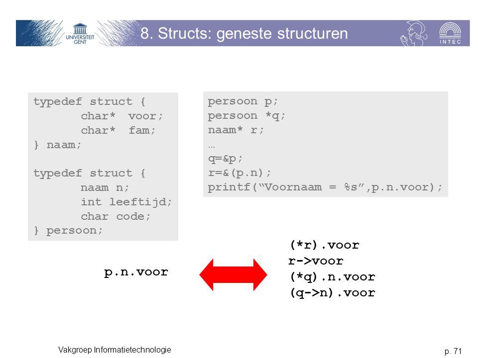 8. Structs: geneste structuren
