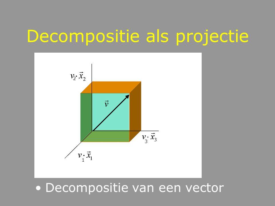 Decompositie als projectie
