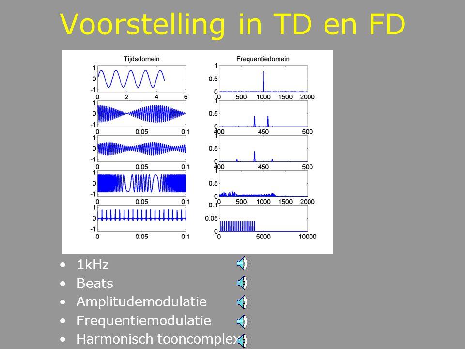 Voorstelling in TD en FD