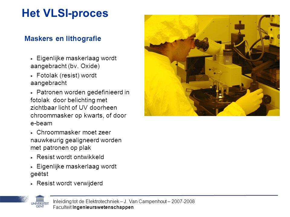 Het VLSI-proces Maskers en lithografie