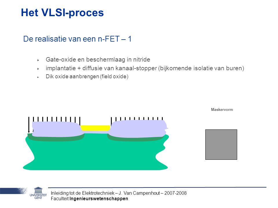 Het VLSI-proces De realisatie van een n-FET – 1