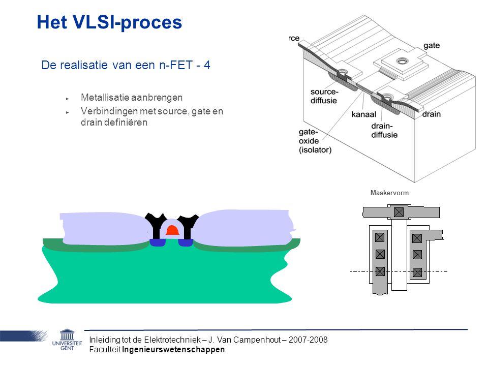 Het VLSI-proces De realisatie van een n-FET - 4