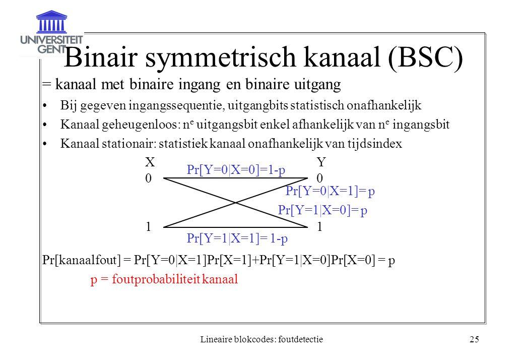 Binair symmetrisch kanaal (BSC)