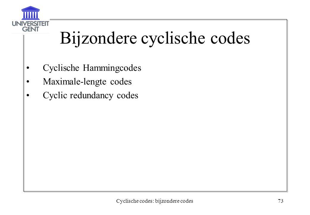 Bijzondere cyclische codes