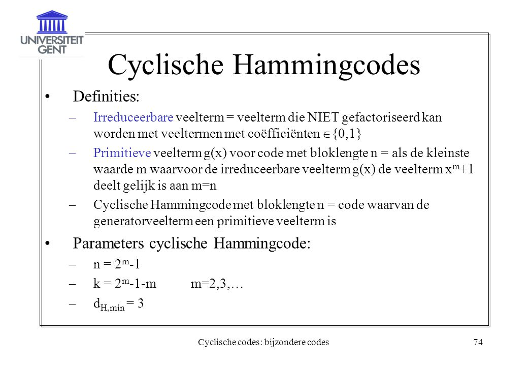 Cyclische Hammingcodes