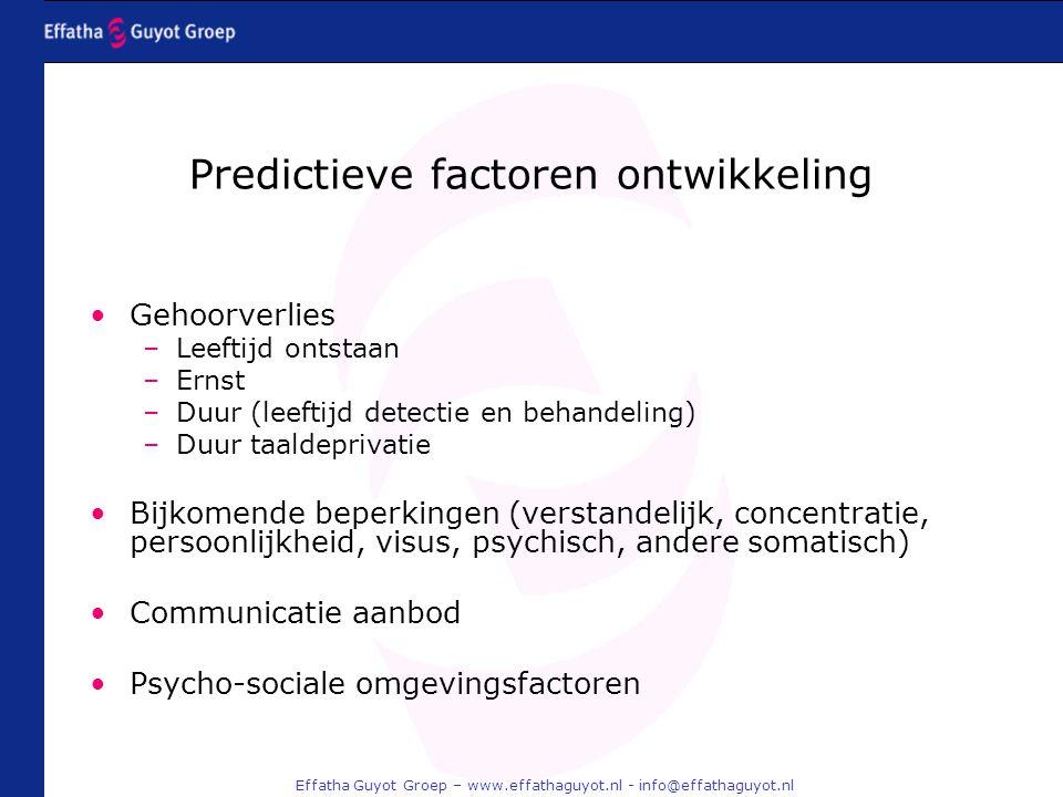 Predictieve factoren ontwikkeling
