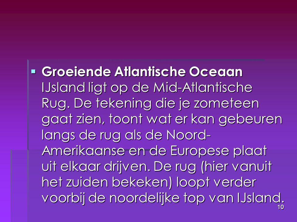 Groeiende Atlantische Oceaan IJsland ligt op de Mid-Atlantische Rug