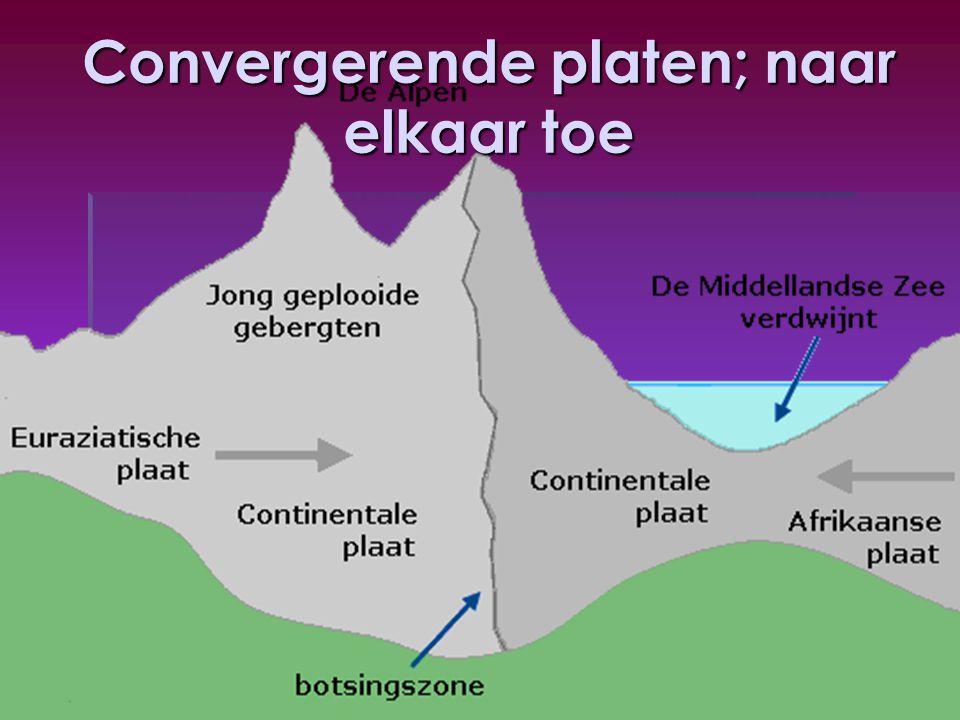 Convergerende platen; naar elkaar toe