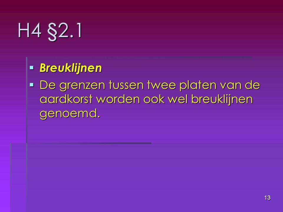 H4 §2.1 Breuklijnen.